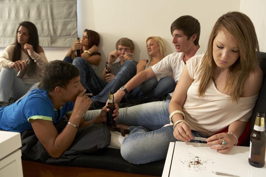 Teenagers drinken en roken
